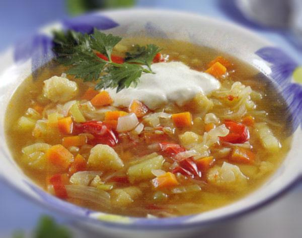 Rudeninė daržovių sriuba