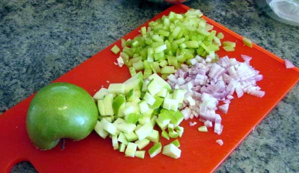 Supjaustyti ingredintai