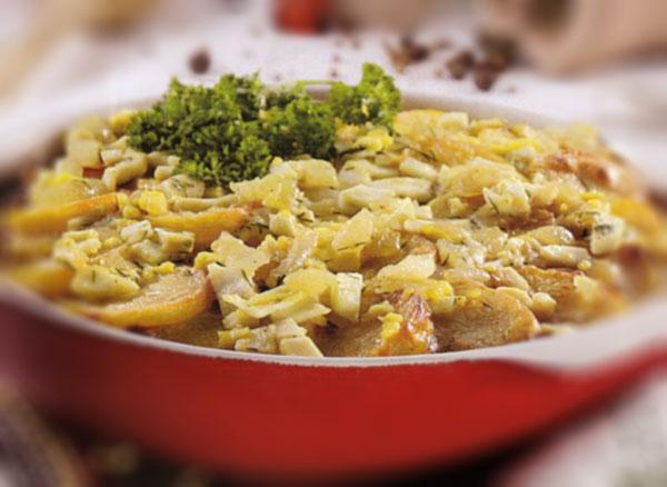 Bulvės keptos su silkių file